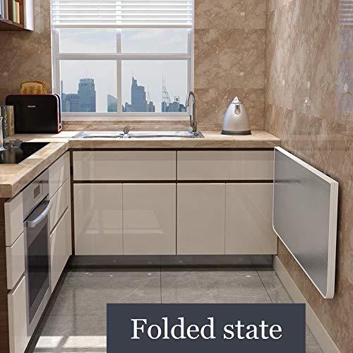 Fällbart väggbord, väggmonterad inlärningsbord, drop-Leaf skrivbord, lämplig för kök, vardagsrum, garage, 12 storlekar