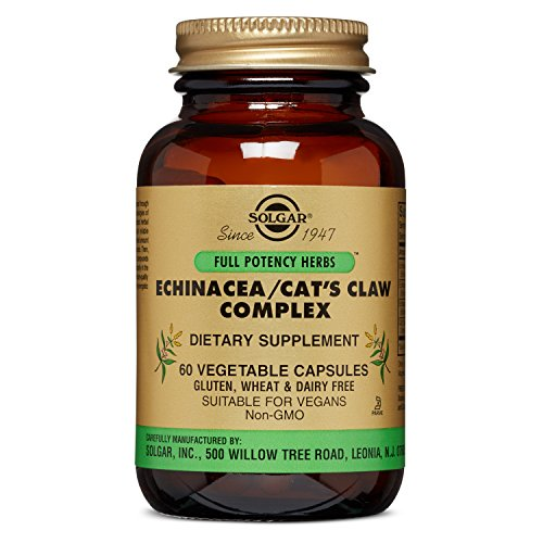 Solgar - Full Potency Echinacea/Goldenseal/Cat's Claw Complex, 60 Vegetable Capsules