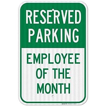 Reservado aparcamiento empleado del mes cartel, Federal 12 ...