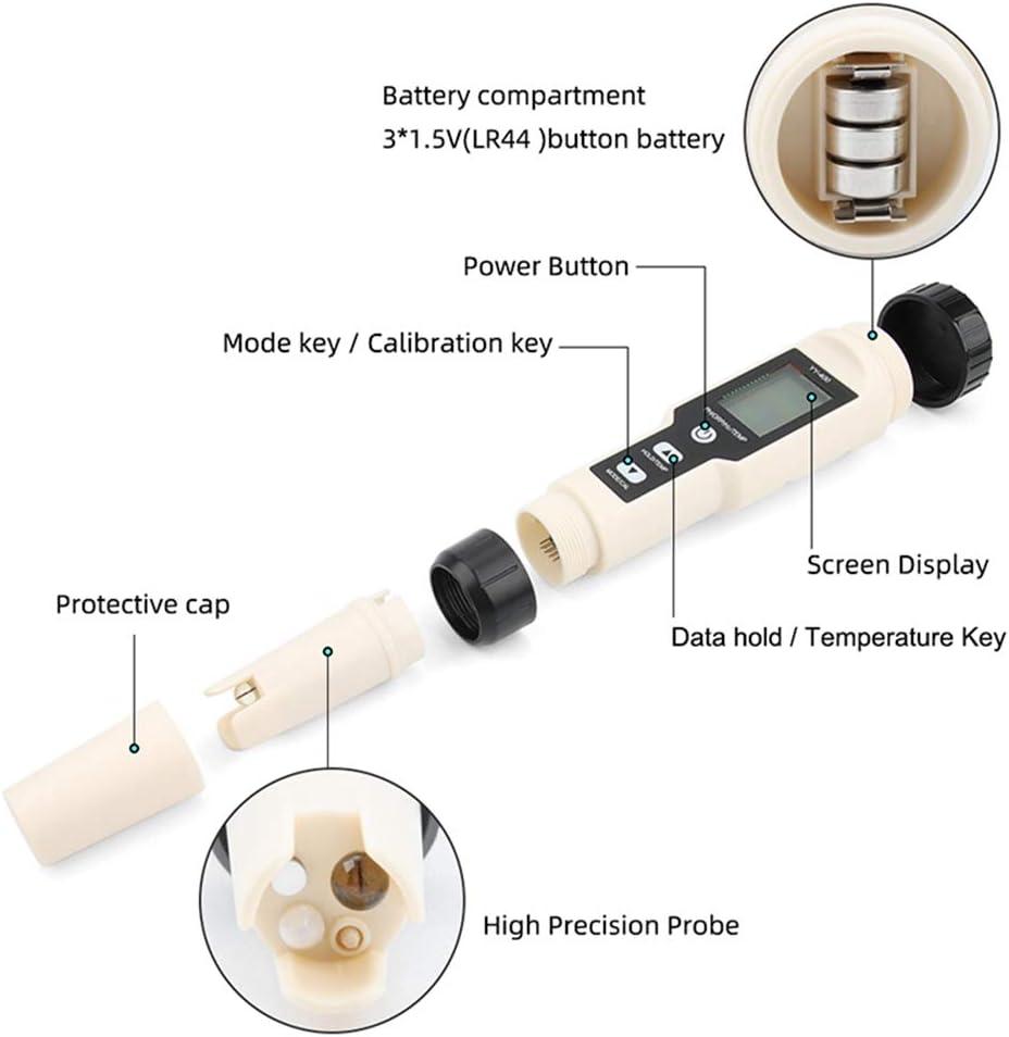 H2 et Tem Compteur DEau Potable Num/érique 4 en 1 PQZATX Nouveau Stylo de Test de Qualit/é de LEau de Concentration DIons DHydrog/ène Yy-400 Ph//Orp