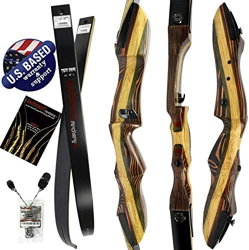 Southwest Archery Tigershark Takedown Recurve Bow 62 Recurve Hunting Bow Right Left Hand Draw Weights in 25-60 lbs USA Based Company Perfect for Beginner to Pro