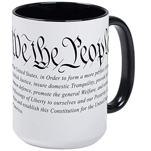 U.S. Constitution RINGER Mug - 11oz Coffee Mug, Ceramic 11oz Coffee Cup
