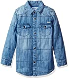 quilted denim shirt - GUESS Little Boys' Long Sleeve Quilted Denim Shirt, Sensu, 6