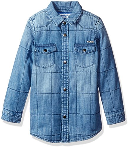 quilted denim shirt - 4
