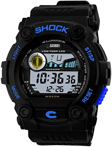 Unisex Men's Water Resistant Watches Multi Function Digital LCD Watch for Child's Students Boys and Girls Outdoor Sports Watch Christmas Gift Watch