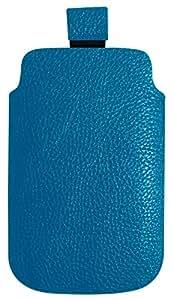 Omenex 688346 imitación-funda de piel para Smartphone/Teléfono móvil-talla M azul