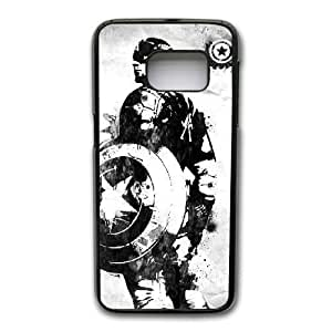 Custom made Case,Captain America 3 Civil War PC Plastic Cell Phone Case for Samsung Galaxy S7,Black Case With Screen Protector (Tempered Glass) Free S-6625389
