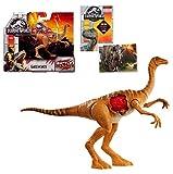 "Jurassic World Gallimimus Battle Damage 6"" Action Figure + One Premium Jurassic World Trading Card. Bundle Set of 2 Items"