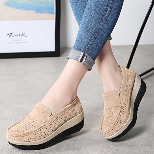 Flats Wedge Sneakers Platform Yzhyxs Women Beign 13 Comfort Slip Casual Shoes On w0nFpq7x