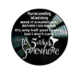 Jimmy Buffet 5 O'clock Somewhere song lyrics on a Vinyl Record Album Wall Art