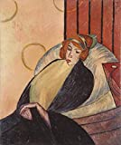 Oil Painting 'unknown,Woman On A Chair,about 20th Century', 18 x 22 inch / 46 x 55 cm , on High Definition HD canvas prints is for Gifts And Dining Room, Home Theater And Living Room Decoration, fast
