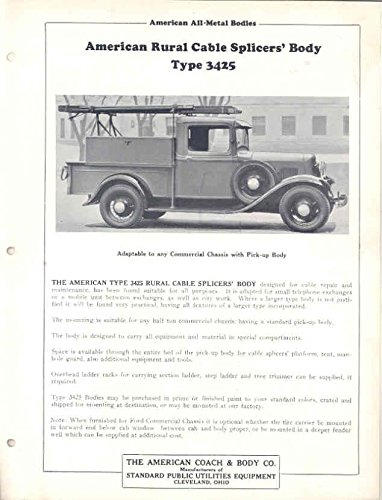 1936 Ford American Utility Cable Pickup Truck Brochure