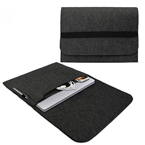eFabrik Case für Lenovo Yoga Pro 3 13,3 Zoll Schutzhülle Ultrabook Laptop Case Soft Cover Schutztasche Sleeve Filz dunkel grau