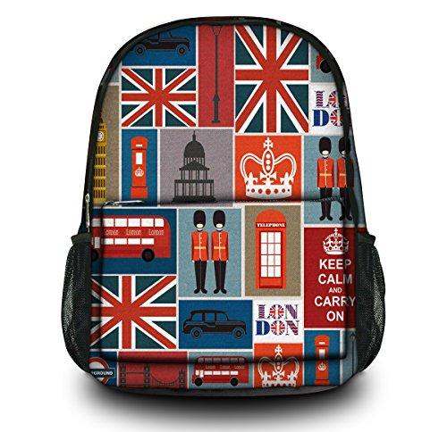 Cool British flag Print 2014 Hot Canvas office Hiking Student School Bag Backpack Leisure Bag Travel Rucksack