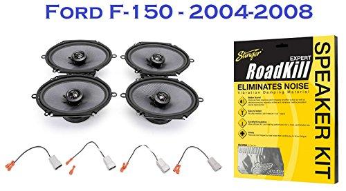 2004-2008 Ford F-150 Truck Elite Series Complete Speaker Upgrade Package - Free Stinger Roadkill (2004 Upgrade Package)