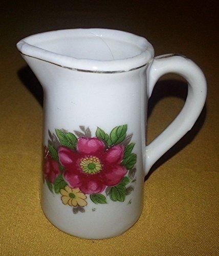 (Vintage Marked Japan Miniature Dollhouse Creamer w Hand Painted Flowers)