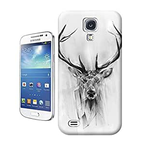 Unique Phone Case Animal painting patterns Red Deer Hard Cover for samsung galaxy s4 cases-buythecase