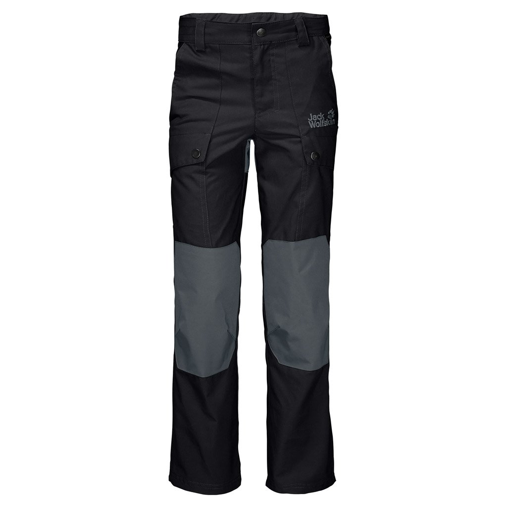 Jack Wolfskin Kid's Whitehorse Pants, Black, Size 140 (9-10 Years Old)