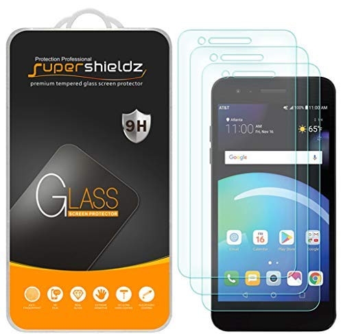 [3-Pack] Supershieldz for LG Phoenix 4 Tempered Glass Screen Protector, Anti-Scratch, Bubble Free, Lifetime Replacement