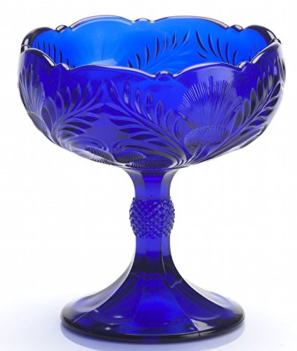 American Pattern Glass Bowl (Footed Compote Inverted Thistle Pattern Mosser Glass (Small,)