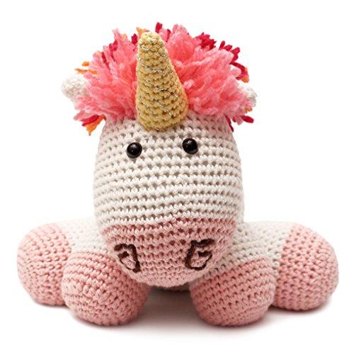DaoOfThao Rainbow Unicorn Animal Handmade Amigurumi Stuffed Toy Crochet Doll VAC