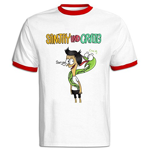 Stammer Sanjay And Craig Men Contrasting Thread T-shirt Pre-cotton Fashion