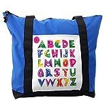Lunarable ABC Kids Shoulder Bag, Ornate Ethnic Watercolor, Durable with Zipper