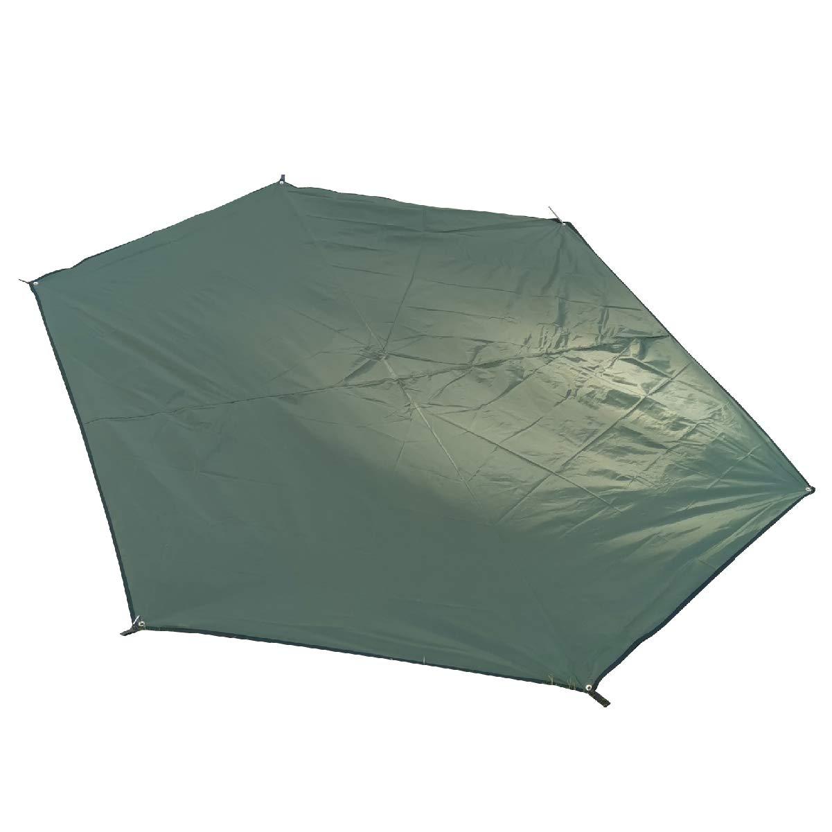 TRIWONDER Waterproof Hexagonal Hammock Rain Fly Tent Tarp Footprint Ground Cloth Camping Shelter Sunshade Beach Picnic Mat for Hiking Picnic (Dark Green - XL - Tarp Only) by TRIWONDER