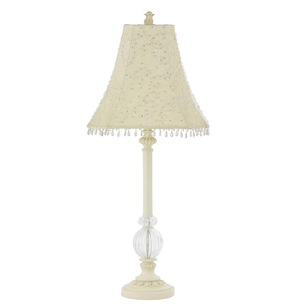 Jubilee Collection 870003-4059 Ivory Glass Ball Lamp with Ivory Starburst Shade, Large