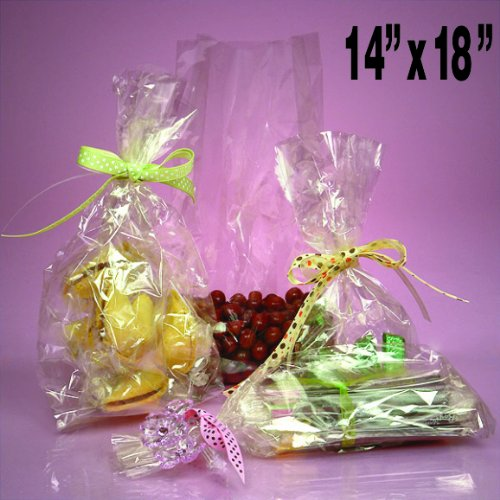 50 Clear Cello/cellophane Bags – Flat 14″ X 18″ – Wedding Favors Party G ...