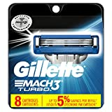 Gillette Mach3 Turbo Men's Razor Blade Refills, 8 Count (Packaging May Vary), Mens Razors / Blades