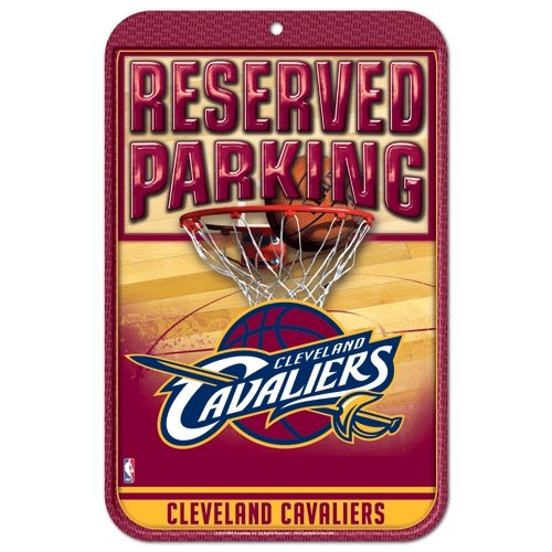 NBA Cleveland Cavaliers 29300014 Plastic Sign, 11 x 17, Black