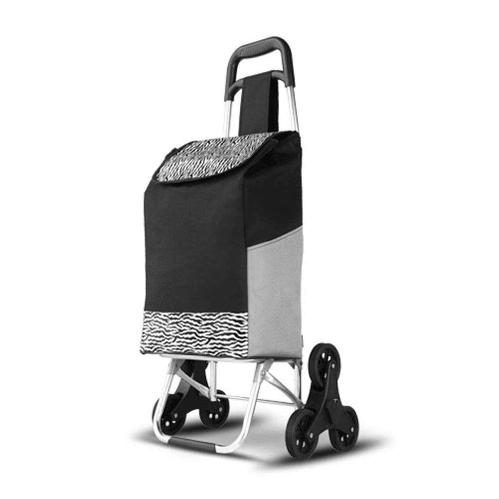 Qivor Shopping Cart - Large Capacity Trolley - Foldable - Easy to Climb Stairs - Luggage Trolley - Unisex