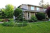 PeeNoke Toy Spooktacular Creations 23X18ft Triangular Mega Spider Web for Outdoor Halloween Decoration