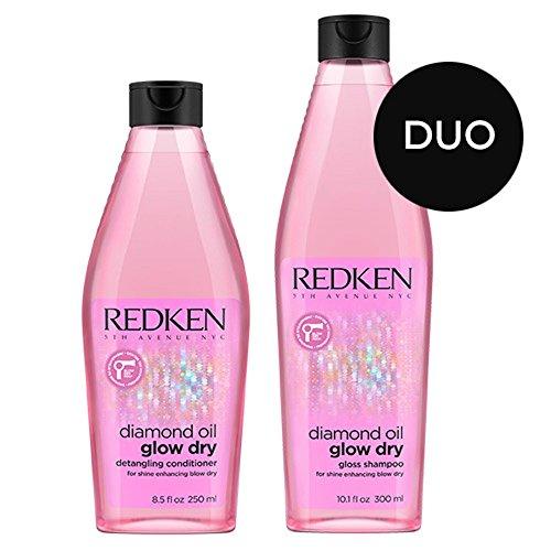 Redken Diamond Oil Shampoo 10.1 Ounce and High Shine Gel Conditioner 8.5 Ounce Set (Oil Diamonds)