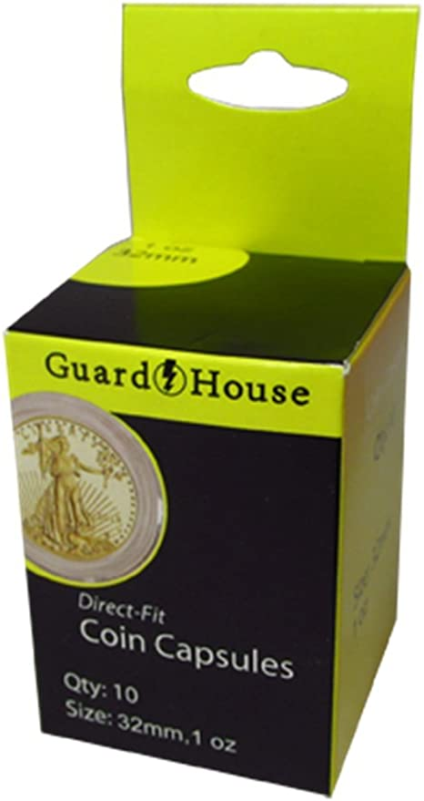 XL Guardhouse Coin Storage Box and 50 Air-Tite 40mm Black Ring Capsule Holders