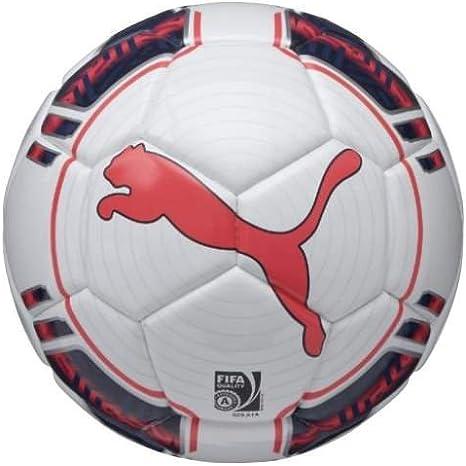 PUMA 4 082234 15 EVO - Pelota de fútbol Sala, Color Blanco y Rojo ...