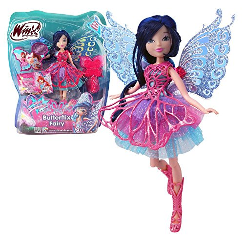Winx Club - Butterflix Fairy - Musa Doll 28cm with Magic Robe by Witty Toys