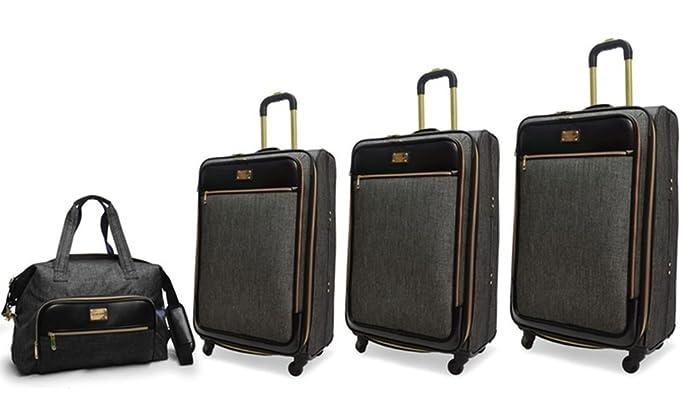 Adrienne Vittadini Barnett Nylon 4-Piece Luggage Set - Denim - Size:L QbPTa