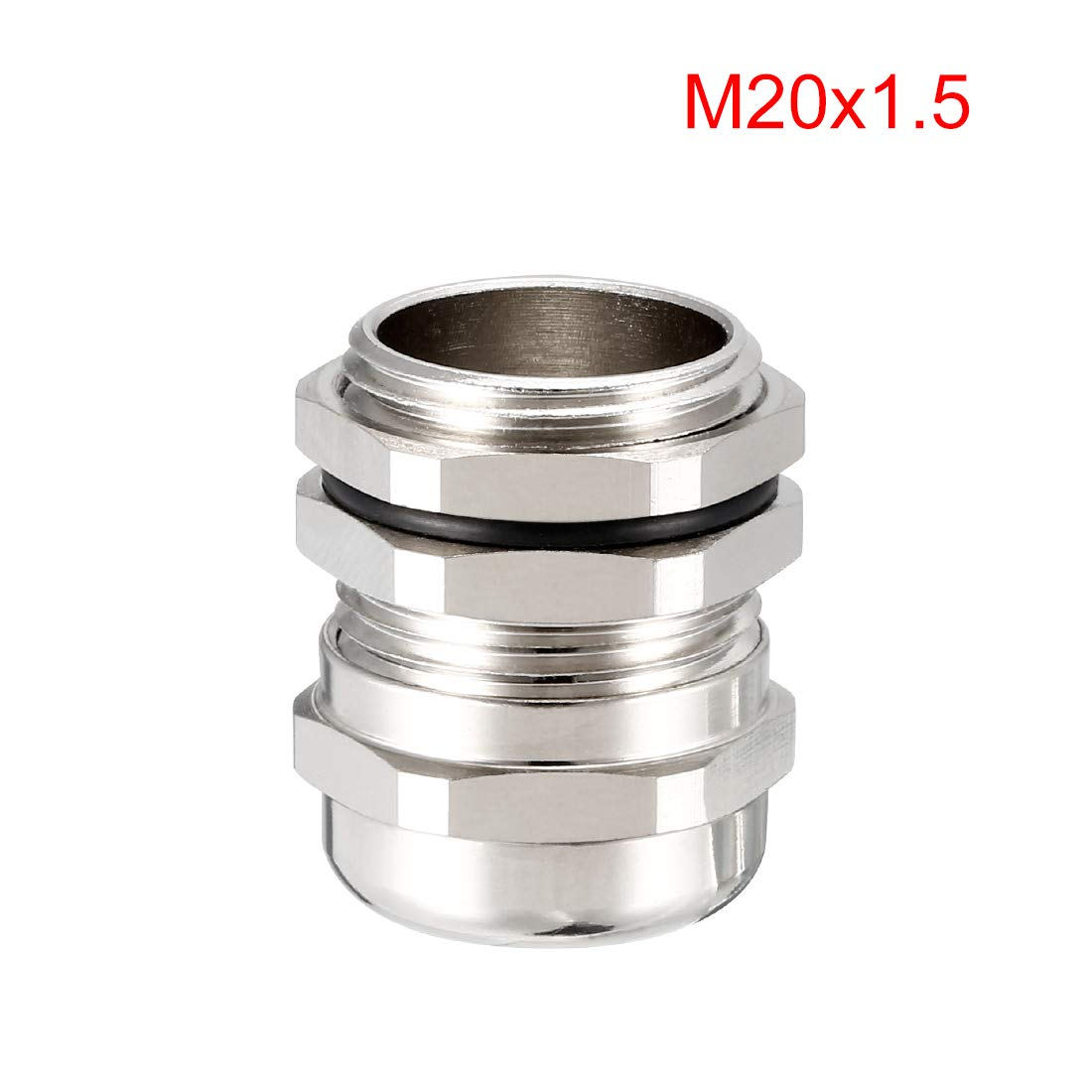 uxcell 3Pcs M25 Cable Gland Metal Waterproof Connector Wire Glands Joints for 13mm-18mm Dia Range
