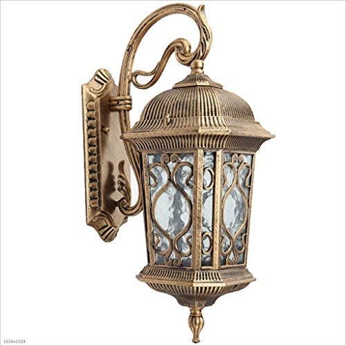 Bracket Light 13 Wall Outdoor (XAJGW Outdoor Wall Lantern, Oil Rubbed Rust Body Finish Clear Seeded Glass (Color : Bronze))