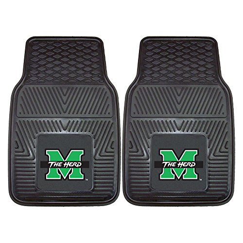Ncaa Heavy Duty Vinyl - Fanmats 12823 Marshall University Thundering Herd Front Row Vinyl Heavy Duty Car Mat - 2 Piece