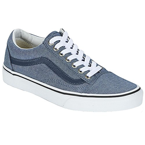Old Chambray Vans blue Adulte Chaussures Skool Mixte RwwdSqBO