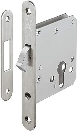 Cerradura gedotec montaje puerta corredera de candado para puerta de montar Pasea einstecken – H5500 | Startec | con compás cerrojo, niquelado mate, 1 Set: Amazon.es: Bricolaje y herramientas