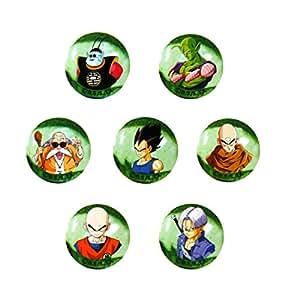 Canicas Dragonball Z, 7 bolas de cristal 22mm Amigos de Goku