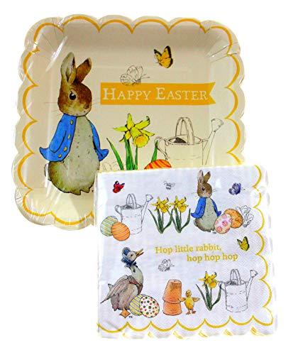 - Peter Rabbit Plates and Napkins, 12 Piece Setting