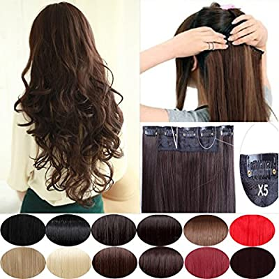 "S-noilite® US Longest 27""/29""/30"" Hairpiece 3/4 Full Head One Piece 5 Clips Clip In Hair Extension Super Long Elegant Dress Ready For Christmas Ideal Gift"