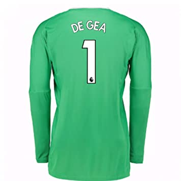 c0d8dba9f78 2017-18 Man Utd Away Goalkeeper Football Soccer T-Shirt (Kids) (David De Gea  1)  Amazon.co.uk  Sports   Outdoors