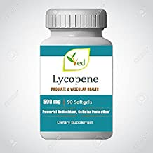 Lycopene 500 mg | 90 Softgel,Prostate & Vascular Health and Powerful Antioxidant Natural Formula