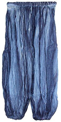 Highwaypay Yoga Gypsy Hippie Boho Bohemia Indian Crinkled Gauze Cotton Bohemian Tie Dye Yoga Pants 2719 Blue
